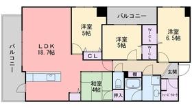 アクロス荒江グランコート6階Fの間取り画像