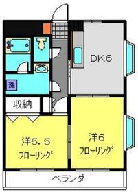 クレールハイツ小机3階Fの間取り画像