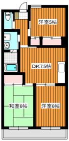 サンヒルズ徳丸2階Fの間取り画像