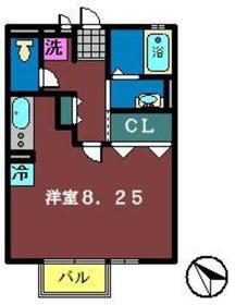 グレイス・モナリエ1階Fの間取り画像