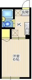 シティハイム ウィン1階Fの間取り画像
