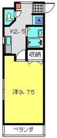 ニューカースル伊藤4階Fの間取り画像