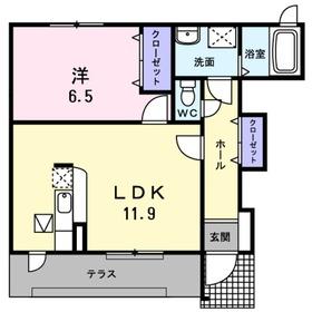 恩田駅 徒歩12分1階Fの間取り画像