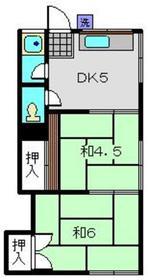 山手ハウス1階Fの間取り画像