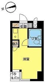 スカイコート駒沢2階Fの間取り画像