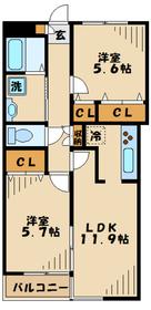 ビューバレー彩3階Fの間取り画像