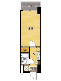 ラ・レジダンス・ド・福岡県庁前 : 6階間取図