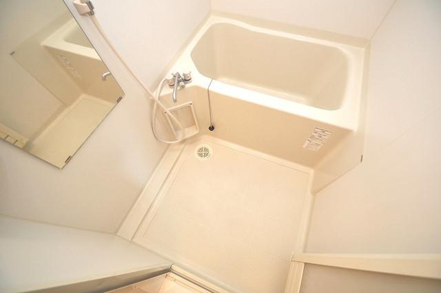 エクレール上小阪 ちょうどいいサイズのお風呂です。お掃除も楽にできますよ。