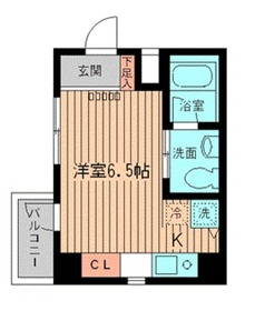 NERV西早稲田2階Fの間取り画像