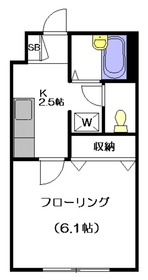 ドムス東高円寺2階Fの間取り画像