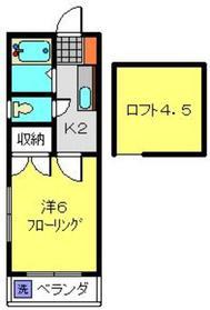 M'sフラットⅠ2階Fの間取り画像