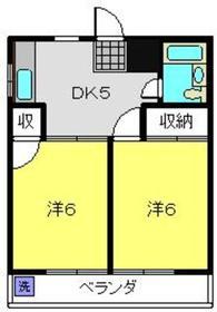 武蔵小杉駅 徒歩22分4階Fの間取り画像