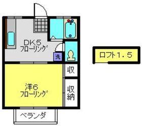 フィオレ2階Fの間取り画像