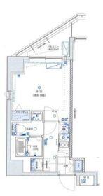 グランリーヴェル横濱Premier8階Fの間取り画像