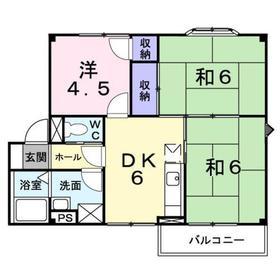 ヴィクトリアガ-デン 42階Fの間取り画像