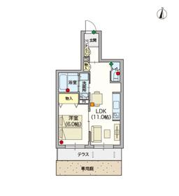 (シニア限定)戸田公園ヘーベルヴィレッジ・エール1階Fの間取り画像