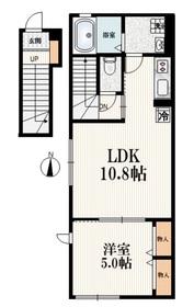 (仮称)氷川台4丁目アパート2階Fの間取り画像