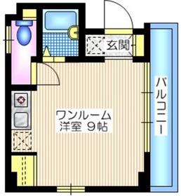 Y.R.FLAT5階Fの間取り画像