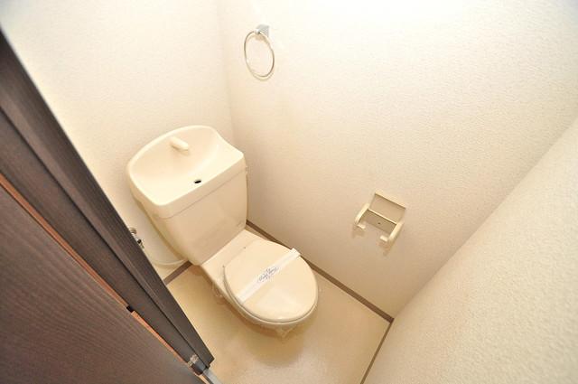 ハートハイム 白くてピカピカのトイレですね。癒しの空間になりそう。
