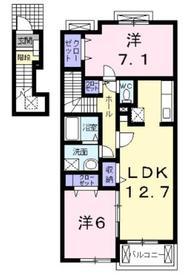 サンリッツヴィラC2階Fの間取り画像