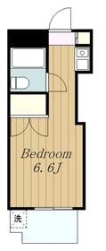 第二丸吉ビル4階Fの間取り画像