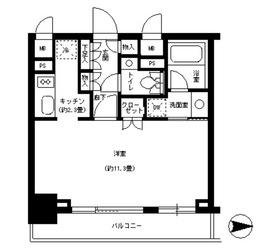 パークキューブ神田13階Fの間取り画像