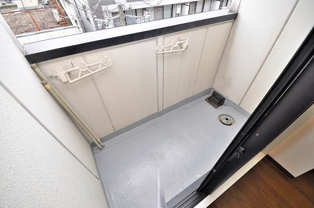 ボーリバージュ バルコニーは陽当たりが良く、洗濯物も気持ち良く乾きます。