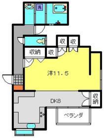 ヴァイルヘンハイム1階Fの間取り画像