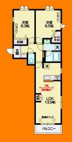 武蔵境駅 徒歩19分2階Fの間取り画像