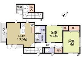 世田谷区野毛2丁目計画C棟2階Fの間取り画像
