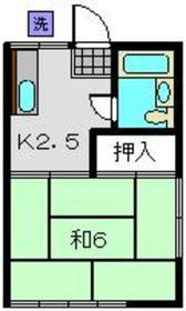 第二宝寿荘2階Fの間取り画像