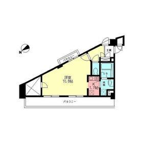 リヴェルテ(リヴェルテ)2階Fの間取り画像