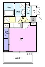 ヴィラセナーレⅡ2階Fの間取り画像