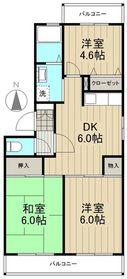 ドルチェ多摩2階Fの間取り画像
