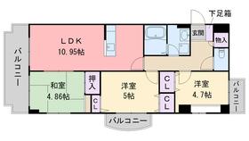 アフロディーテ6階Fの間取り画像
