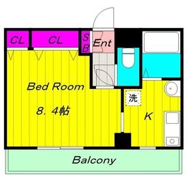 カーサコンフォルト21階Fの間取り画像