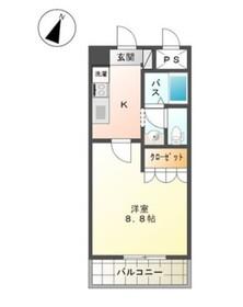 ポスト・マローネ6階Fの間取り画像