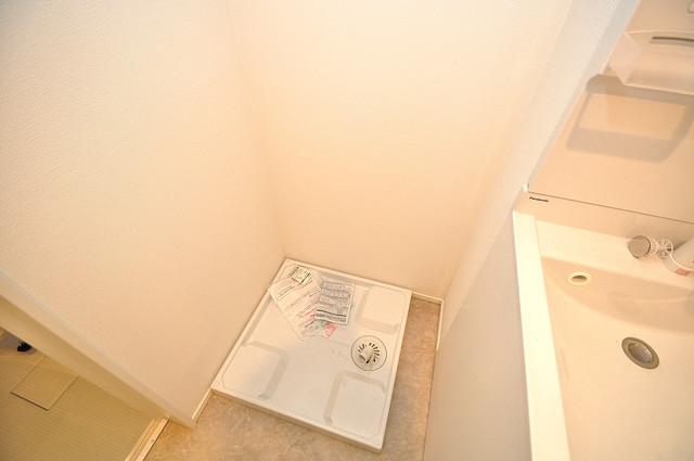 RESTAURO 室内に洗濯機置き場があれば雨の日でも安心ですね。