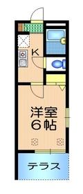 SUN HASHIDA1階Fの間取り画像