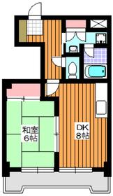 エースCity4階Fの間取り画像
