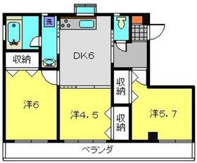 シャンス東寺尾中台23-Ⅱ3階Fの間取り画像