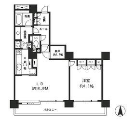 リバーポイントタワー14階Fの間取り画像