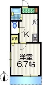 ドミール シャルマン1階Fの間取り画像
