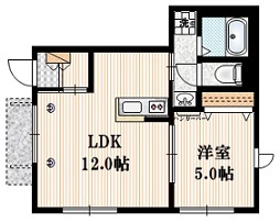 LITZY HOUSE1階Fの間取り画像