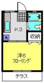 ハイツアオキ1階Fの間取り画像