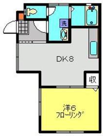 ハイムりら1階Fの間取り画像