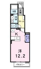 愛甲石田駅 バス6分「長沼」徒歩12分1階Fの間取り画像