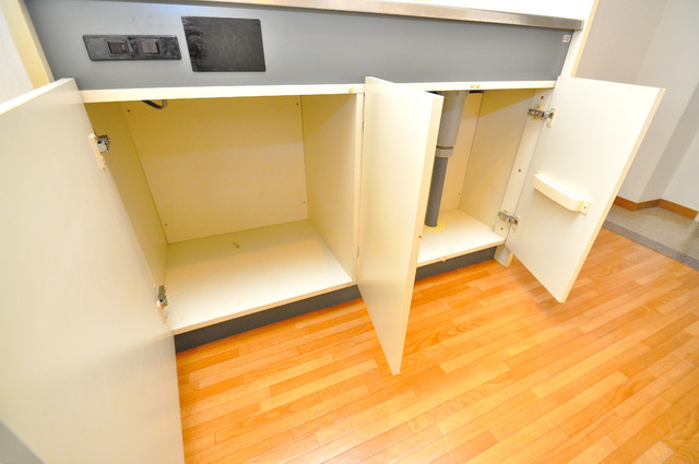 コーポラス光進 キッチン下に広いスペースがあります。