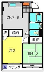 第1タルヤビル4階Fの間取り画像