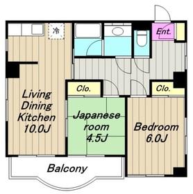 リヴィールマンション3階Fの間取り画像